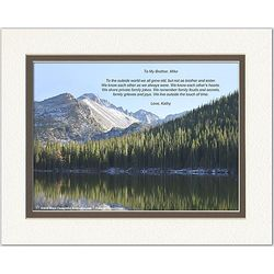 Personalized Family or Friend Poem Snow Mountain Lake Print