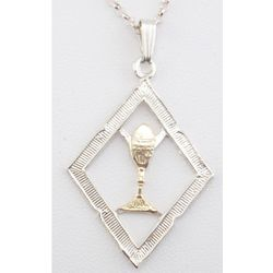 Sterling Chalice Pendant Necklace