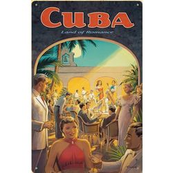 Cuban Romance Metal Print Sign