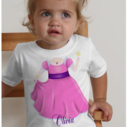 I Want To Be Personalized Baby Girl Princess T-Shirt