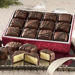 One Dozen Chocolate-Covered Cheesecake Treats Gift Box