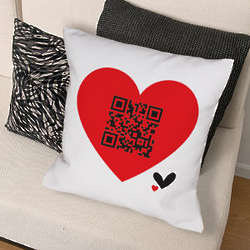 Personalized QR Code Throw Pillow