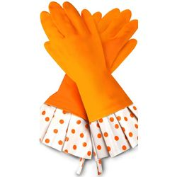 Citrus Polka-Dot Gloves
