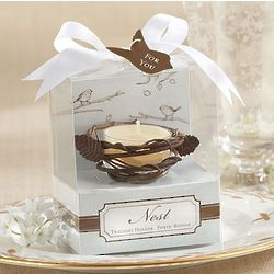 New Nest Metal Baby Shower Tea Light Holders