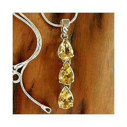 Citrine Sundrops Pendant Necklace