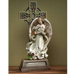 Celtic Cross and Angel Figure