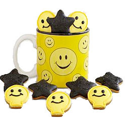 Happy Face Mug with Mini Cookies