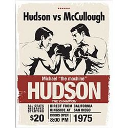 Vintage Boxing Match Personalized Wall Art