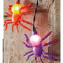 Glowing Spider String Lights