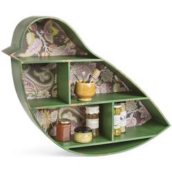Green Bird Wall Shelf