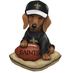 New Orleans Saints Sunday Afternoon Quarter-Bark Figurine