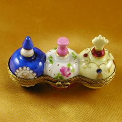 3 Perfume Bottles Limoges Box