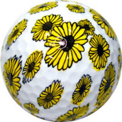 Yellow Daisy Flower Golf Ball
