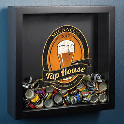 Beer Lover's Personalized Tap House Shadow Box