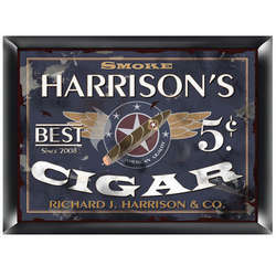 Personalized Patriot Cigar Company Pub Sign