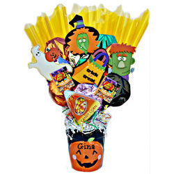 SpookyPots Cookie and Candy Bouquet