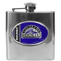 Colorado Rockies Stainless Steel Hip Flask