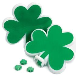 Shamrock-Shaped Containers with Mints