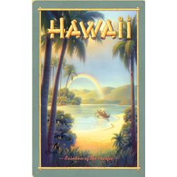Hawaiian Rainbow Metal Print Sign