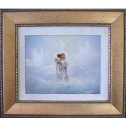 Reunion in Heaven Memorial Framed Art