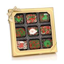 Box of 9 Chocolate Dipped Christmas Krispies
