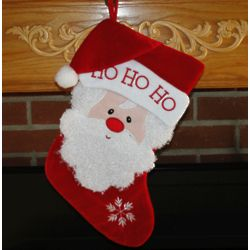 Curly Beard Santa - Personalized Christmas Stocking