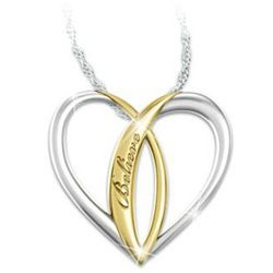 Sterling Silver Ichthus Heart Pendant for Daughters