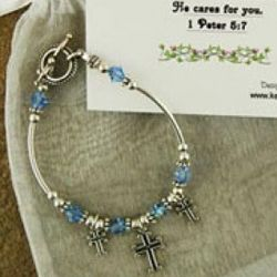 Cares For You Bracelet with Scripture Card