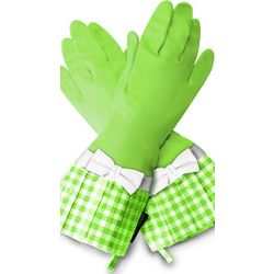 Lime Gingham Gloves