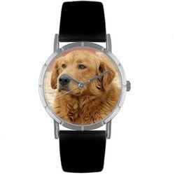 Golden Retriever Print Watch in Silver Classic Case