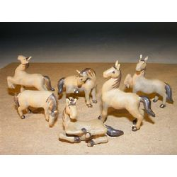 Miniature Six Piece Horse Figurine Set