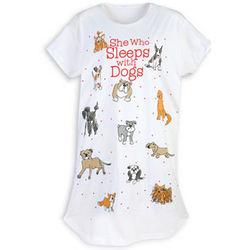 She Who Sleeps With Dogs Sleepshirt