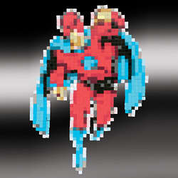 Magnetic Superhero Pixel Puzzle