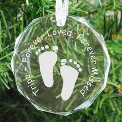 Footprints Personalized Memorial Ornament