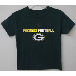 Youth's Black Green Bay Packers T-Shirt