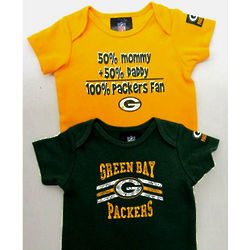 Green Bay Packers Mommy and Daddy Bodysuits