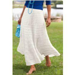 Arielle Tiered Linen Skirt