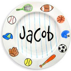 Personalized Sports Design Birth Plate