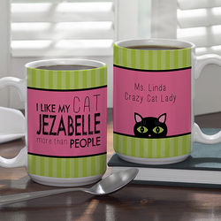 Cat Lover Large Personalized Pet Coffee Mug