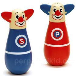 Silly Seasoning Clown Salt and Pepper Shakers