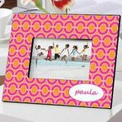 Personalized Pink Links Picture Frame