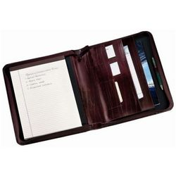 Leather Zip Around Notepad Holder