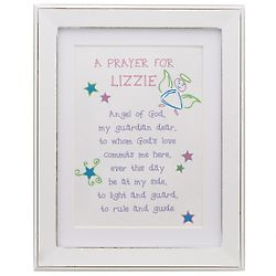 Personalized Guardian Angel Prayer Framed Print