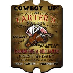 Vintage Personalized Saloon Pub Sign