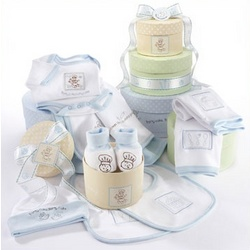 """Patty Cake"" Nine-Piece Baby Boy Layette Set Gift Box"