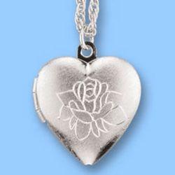 Forever in My Heart Silver Heart Locket Pendant