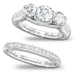 Personalized Diamonesk Bridal Rings with 5 Carats of Stones