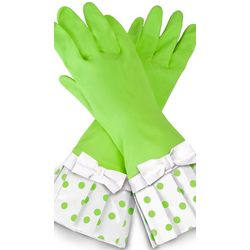 Lime Polka-Dot Glove