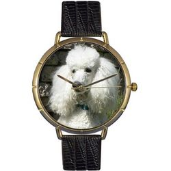 Poodle Print Watch with Italian Leather Band