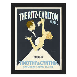 Wedding Waltz Personalized Wall Art